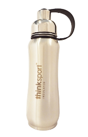 Image of ThinkSport Insulated Sports Bottle 17 Ounces Natural Silver