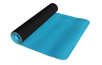 Image of ThinkSport Yoga Mat Black/Blue