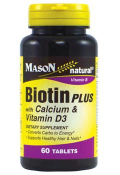 Image of Biotin Plus with Calcium and Vitamin D3