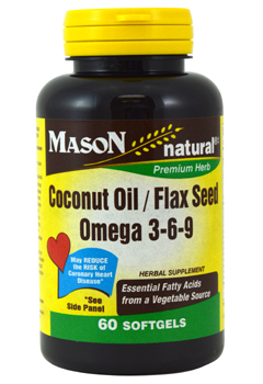 Image of Coconut Oil/Flax Seed Omega 3-6-9 500/500 mg