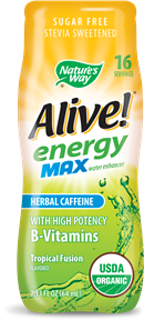 Image of Alive! energy Max water enhancer Tropical Fusion Flavored