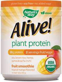 Image of Alive! Plant Protein Powder (Tropical Mango)