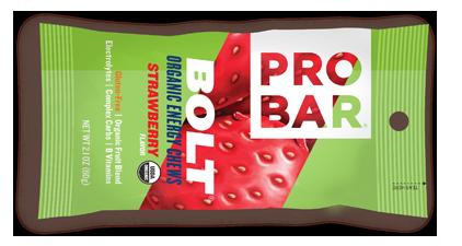 Image of PROBAR Bolt Energy Chews Bar Strawberry
