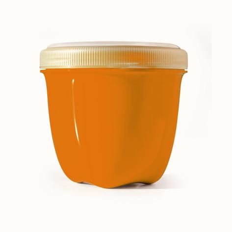 Image of Food Storage Container Round Mini 8 oz Orange