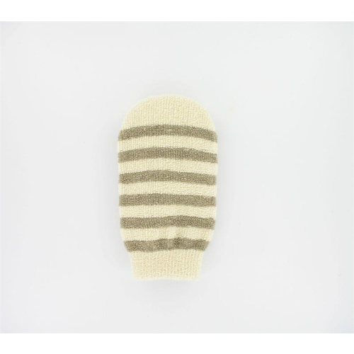 Image of Massage Mitt Cotton With Linen Stripes