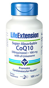 Image of Super-Absorbable CoQ10 (Ubiquinone) with d-Limonene 100 mg