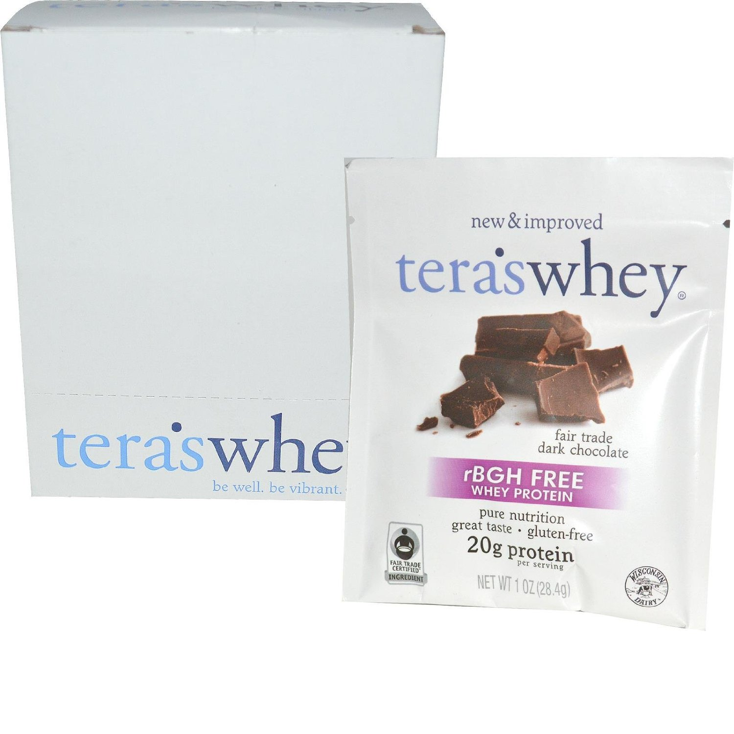 Image of Cow Whey rBGH Free Fair Trade Dark Chocolate 1oz Counter Display