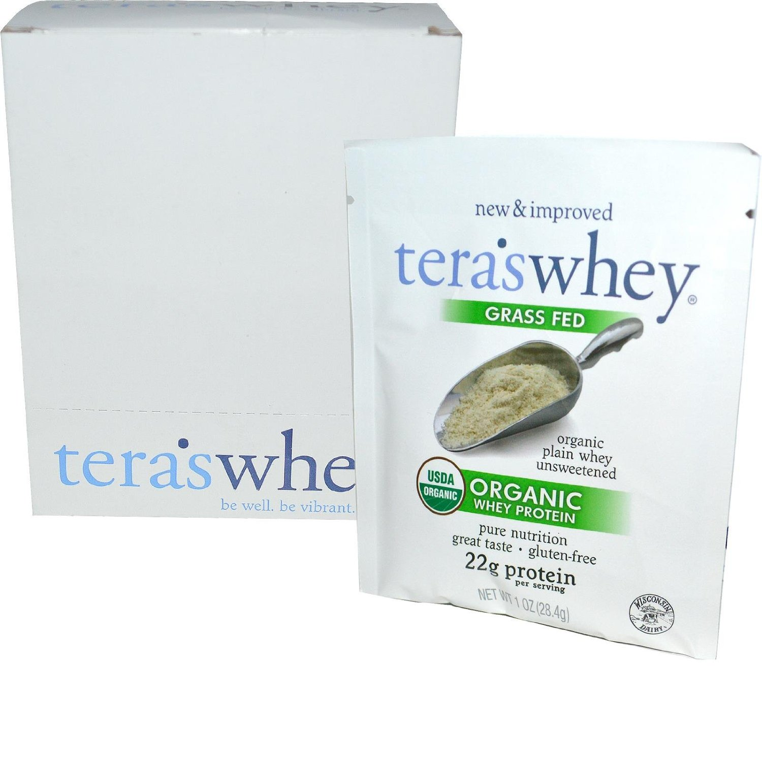 Image of Organic Cow Whey Plain (Unsweetened) 1oz Counter Display