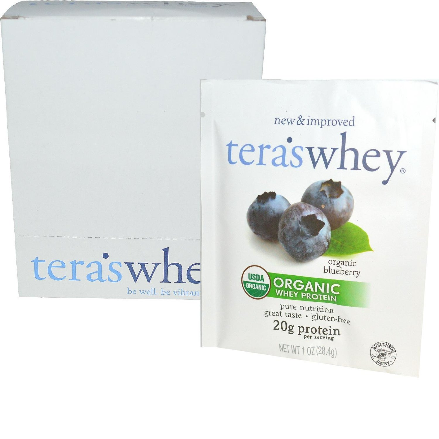 Image of Organic Cow Whey Wild Blueberry 1oz Counter Display