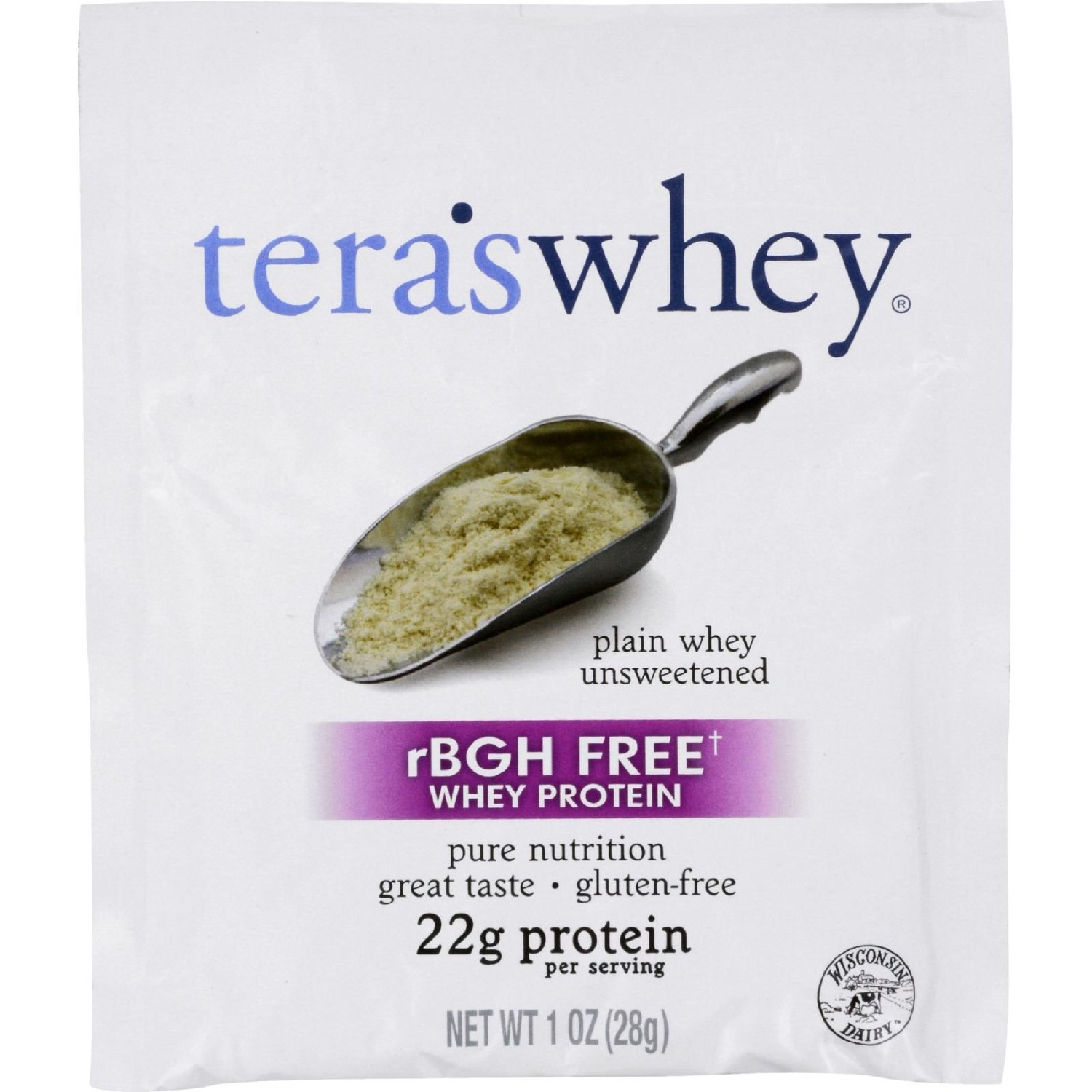 Image of Plain Cow Whey rBGH Free (Unsweetened) 1oz Counter Display