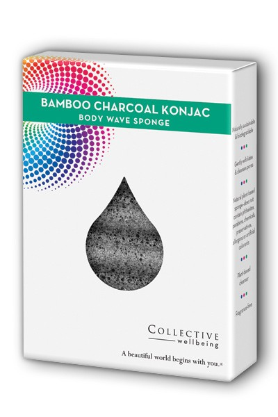 Image of Konjac Wave Body Sponge Bamboo Charcoal