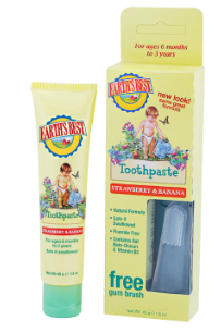 Image of Earth's Best Toothpaste Strawberry & Banana