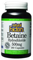Image of Betaine HCl 500 mg with Fenugreek 100 mg