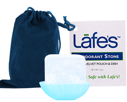 Image of Lafe's Deodorant Crystal Stone with Pouch & Dish