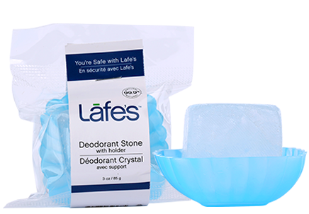 Image of Lafe's Deodorant Crystal Stone with Dish Trial Size