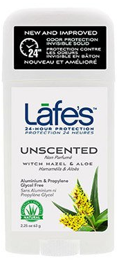 Image of Lafe's Deodorant Twist Stick Unscented Witch Hazel & Aloe