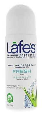 Image of Lafe's Deodorant Roll-On Fresh Cedar & Aloe