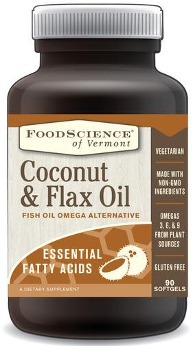 Image of Coconut & Flax Oil Capsules
