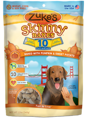 Image of Skinny Bakes 10 Calories Crunchy Treats for Dogs Pumpkin & Sweet Potato