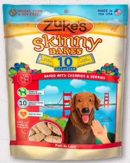 Image of Skinny Bakes 10 Calories Crunchy Treats for Dogs Cherries & Berries