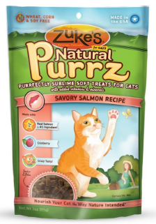 Image of Natural Purrz Soft Treats for Cats Savory Salmon