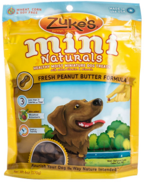 Image of Mini Naturals Moist Treats for Dogs Peanut Butter