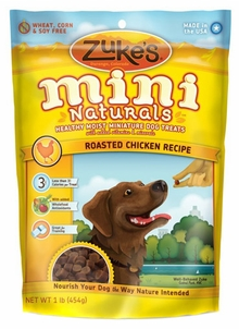 Image of Mini Naturals Moist Treats for Dogs Roasted Chicken
