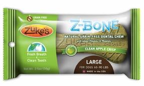 Image of Z-Bones Dental Chews for Dogs Large Size Clean Apple Crisp