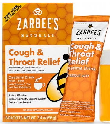 Image of Cough and Throat Relief Daytime Drink Mix Apple Spice