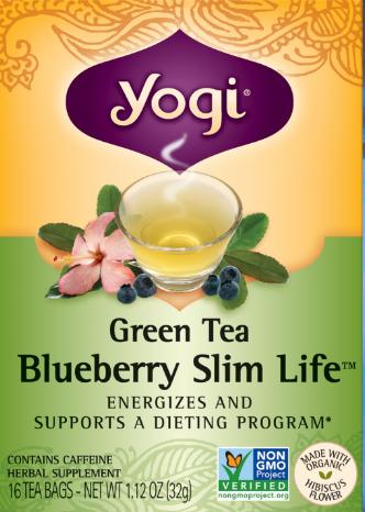 Image of Green Tea Blueberry Slim Life Tea