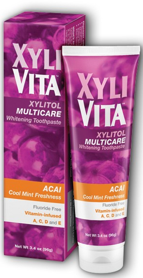 Image of Xyliol Multicare Whitening Toothpaste Fluoride Free Acai Cool Mint
