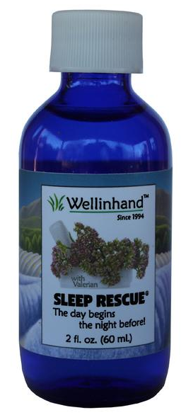 Image of Sleep Rescue Cobalt Glass Bottle