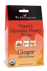 Image of Organic Manuka Honey Drops Ginger with Echinacea