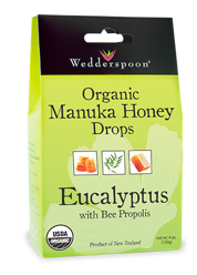 Image of Organic Manuka Honey Drops Eucalyptus with Bee Propolis