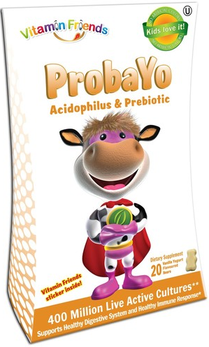 Image of ProbaYo Acidophilus & Prebiotic Gummies Vanilla Yogurt