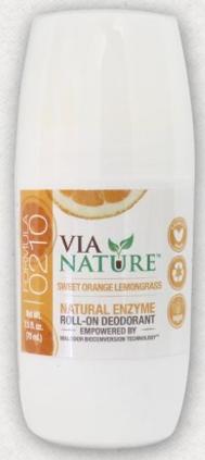 Image of Deodorant Roll-On Sweet Orange Lemongrass