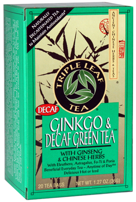 Image of Ginkgo & Decaf Green Tea