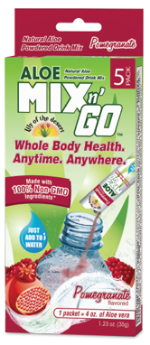 Image of Aloe Mix n Go Packet Pomegranate