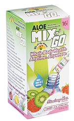 Image of Aloe Mix n Go Packets Strawberry Kiwi