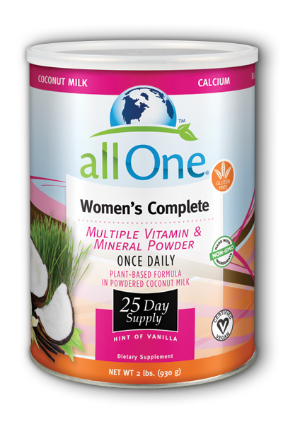Image of All One Women's Complete Multiple Vitamin & Mineral Powder Hint of Vanilla