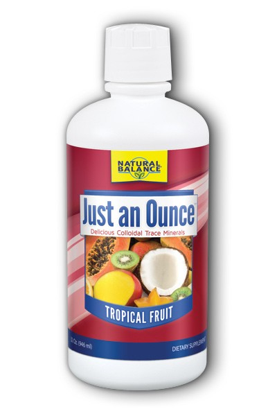Image of Just An Ounce Colloidal Trace Minerals Tropical Fruit