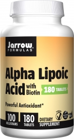 Image of Alpha Lipoic Acid with Biotin 100 mg/330 mcg Tablet