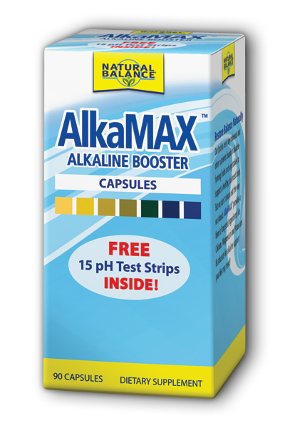 Image of AlkaMax (alkaline booster) with free pH Test Papers