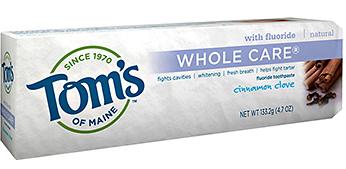 Image of Toothpaste Whole Care (Fluoride) Cinnoman Clove