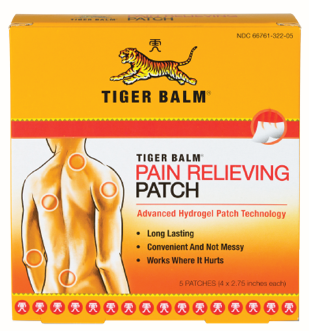 Image of Tiger Balm Pain Relieving Patch Regular 4 x 2.75 inch