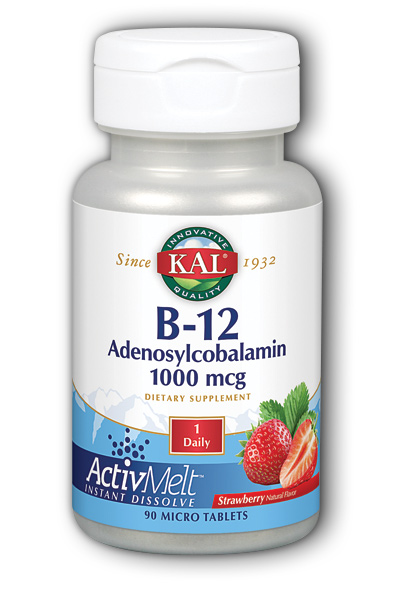 Image of B12 Adenosylcobalamin 1000 mcg ActivMelt Strawberry