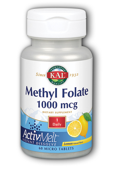 Image of Methyl Folate 1000 mcg ActivMelt Lemon