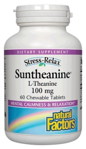 Image of Stress Relax Suntheanine L-Theanine100 mg Chewable