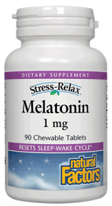 Image of Stress Relax Melatonin 1 mg Chewable Peppermint