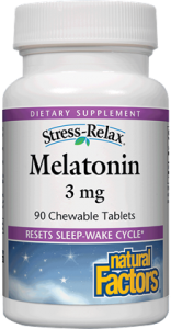 Image of Stress Relax Melatonin 3 mg Chewable Peppermint
